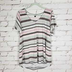 Torrid Colorful Striped T-shirt